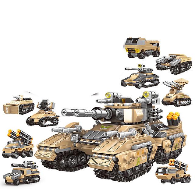 Blocs de Construction 1048 pcs Militaire compatible ABS + PC Legoing Simulation Véhicule Militaire Tous Jouet Cadeau / Enfant