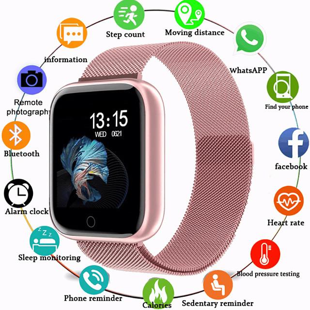 스마트 시계 디지털 사치 방수 디지털 로즈 골드 블랙 / 실버 블랙 / 블랙 / 실리콘 / 심장 박동수 모니터