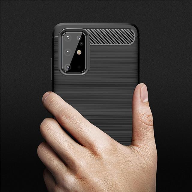 støtsikker karbonfiber telefonveske til Samsung Galaxy S20 s20 pluss s20 ultra s10 s10e s10 pluss s10 5g s9 s9 pluss a51 a71 a81 a91 a10 a20 a30 a40 a50 a70 a20e a70s a50s a30s