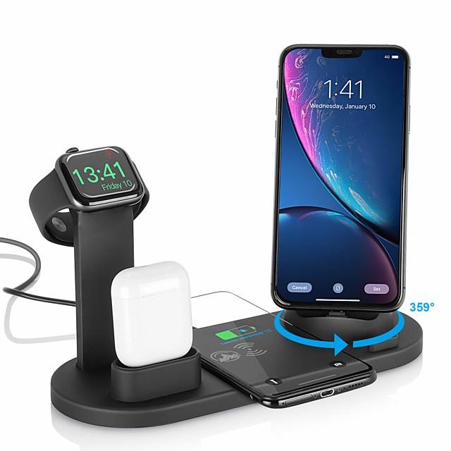 Chargeur Smartwatch Chargeur rapide Chargeur Sans Fil Pour Apple iPhone 12 11 pro SE X XS XR 8 iPhone 11 iPhone XR iPhone 11 Pro avec câble Sorties Multiples Chargeur Sans Fil