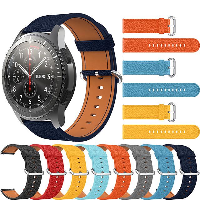 роскошный кожаный ремешок для часов для samsung galaxy watch 46mm / gear s3 classic / frontier сменный браслет ремешок на запястье браслет