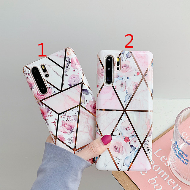 Capinha para huawei scene p30 p30 lite p30 pro mate 30 mate 30 prostitching retro flower pattern galvanoplated diamond tpu material imd process imd all-inclusive phone case