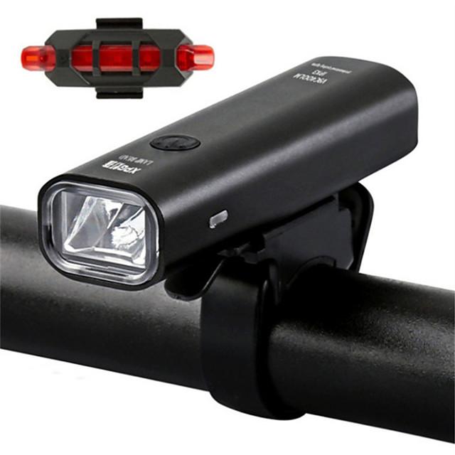 LED Luci bici Luce frontale per bici luci di sicurezza LED Bicicletta Ciclismo Uscita di ricarica USB Rilascio rapido Duraturo Batteria al litio 360 lm Batteriaricaricabile Alimentatore incorporato
