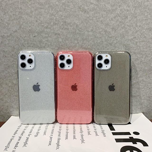 cas pour apple scène carte iphone 11 x xs xr xs max 8 couleur pure poudre flash tpu matériel tout compris étui pour téléphone portable