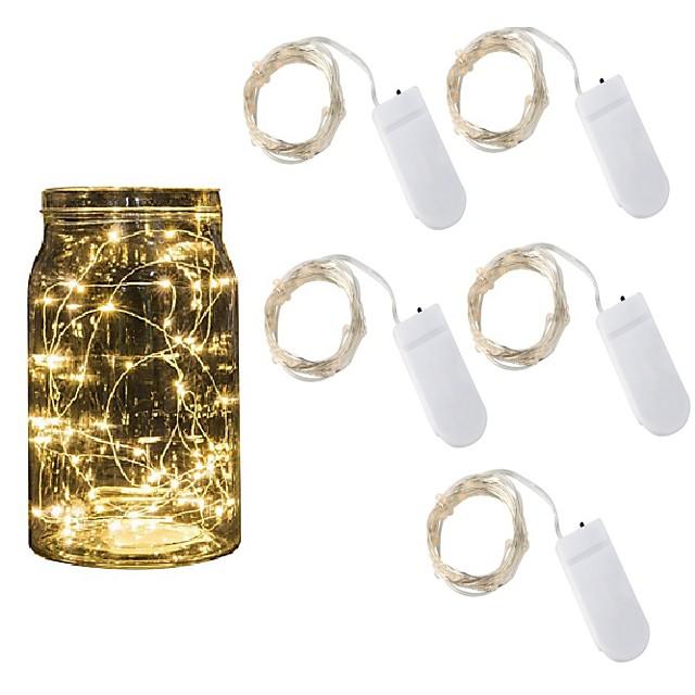 5pcs 2m ha condotto le luci della stringa luci vacanza fata luci ghirlanda di natale per la festa di nozze di Capodanno