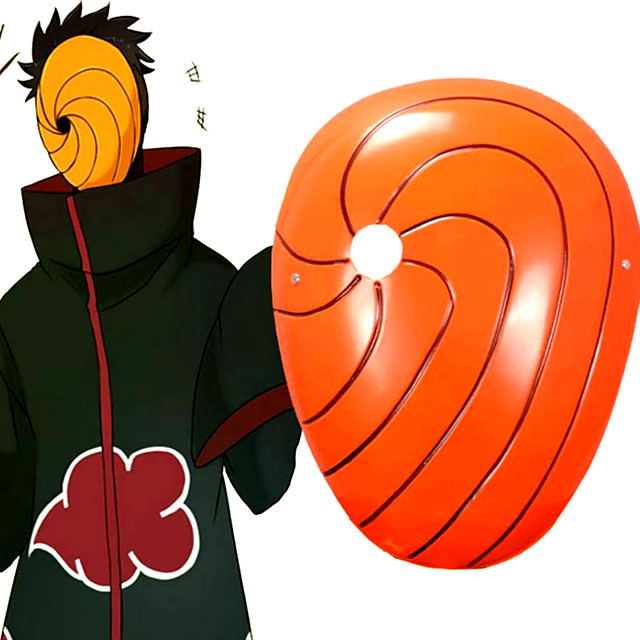 마스크 에서 영감을 받다 나루토 Akatsuki 에니메이션 코스프레 악세서리 마스크 PVC 남성용 뜨거운 할로윈 의상