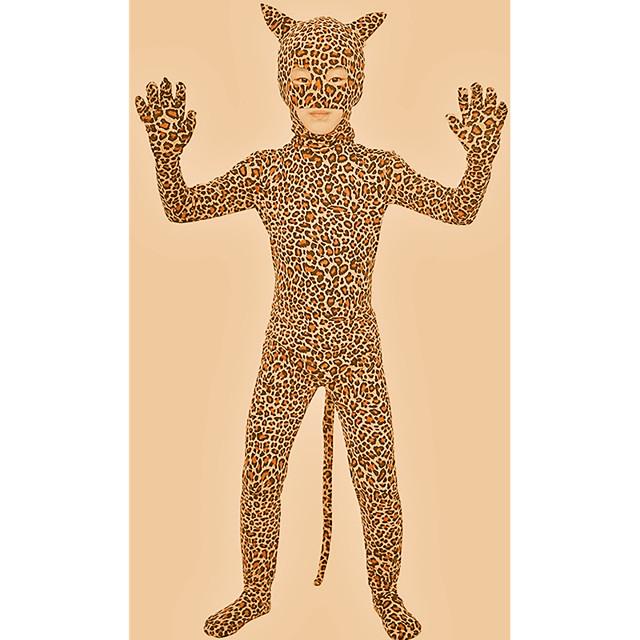 Zentai odijela Catsuit Odijelo za kožu Sa životinjama Cosplay Dječji Spandex Spandex Lycra Lycra Cosplay Nošnje Spol Leopard Životinja Božić Halloween Karneval / Hula-hopke / Onesie