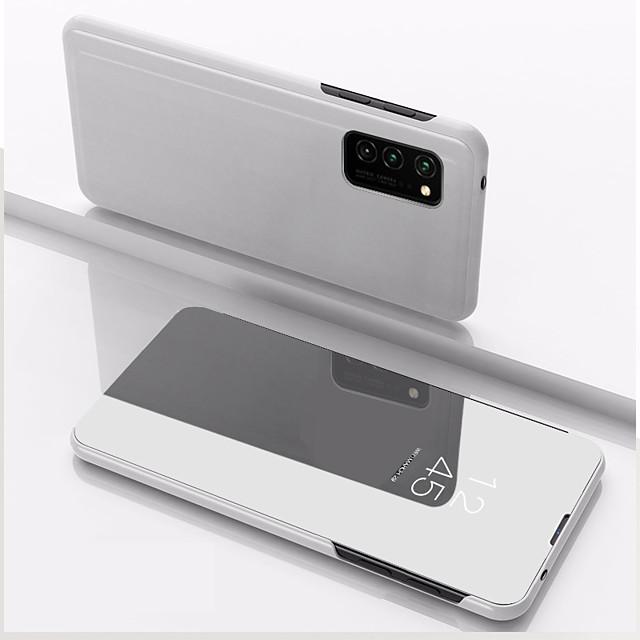 Кейс для Назначение SSamsung Galaxy S9 Plus / S8 Plus / S8 Защита от удара / Зеркальная поверхность / Флип Чехол Однотонный Кожа PU / Акрил