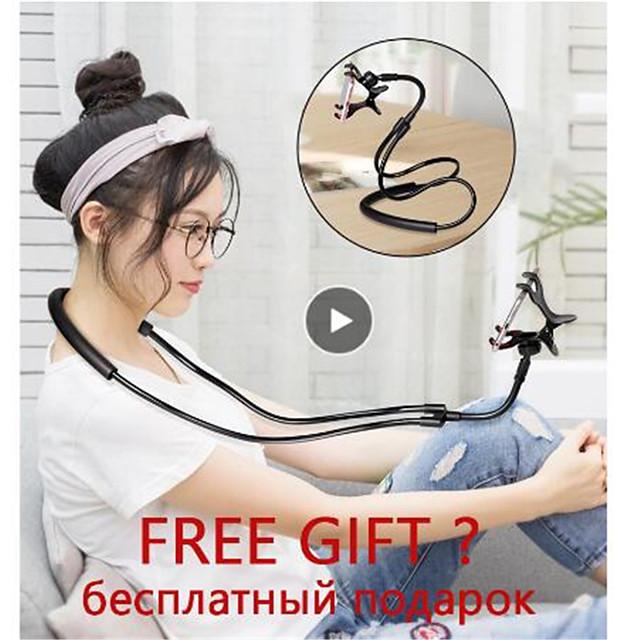 Soporte para teléfono móvil cuello colgante perezoso collar soporte cama soporte para teléfono de 360 grados soporte para iphone xiaomi huawei soporte móvil