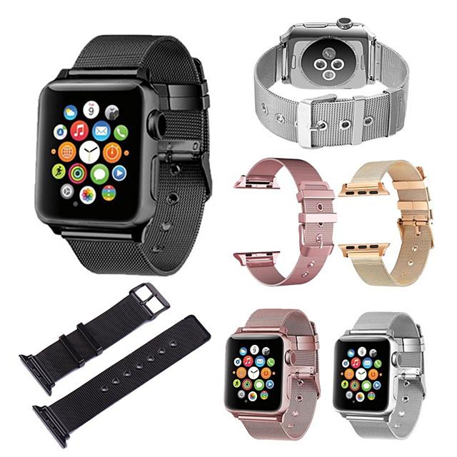milanese rem til apple watch band 44 / 42mm 38 / 40mm rustfrit stål metal armbånd mesh bælte watchband for iwatch serise 5 4 3 2 1