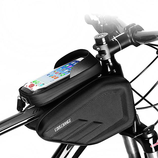Borsa per cellulare Marsupio triangolare da telaio bici 6.0/6.2 pollice Doppio IPouch Foro per cuffia Resistente all'acqua Ciclismo per iPhone 7 iPhone 8 Plus / 7 Plus / 6S Plus / 6 Plus iPhone X Nero