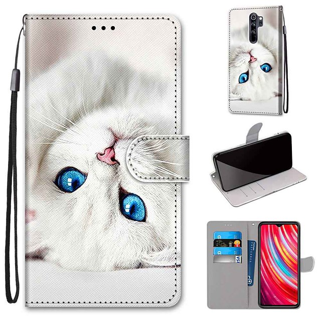 غطاء من أجل Xiaomi شياومي ريدمي 7 / XIAOMI مي 9T / Xiaomi Mi 9T Pro محفظة / حامل البطاقات / مع حامل غطاء كامل للجسم جلد PU / TPU