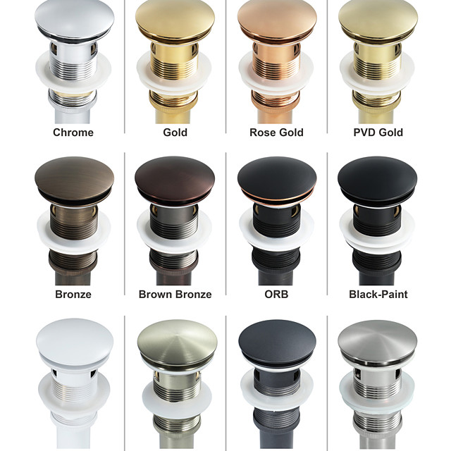 Accessoire de robinet - Qualité supérieure Drain d'eau escamotable avec trop-plein contemporain Laiton Others