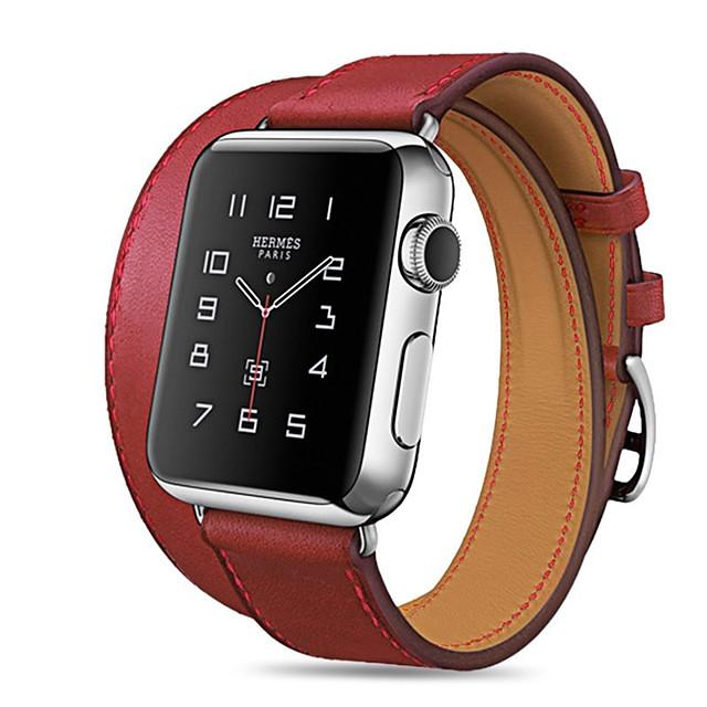 Pulseiras de Relógio para Apple Watch Series 6 / SE / 5/4 44 mm / Apple Watch Series 6 / SE / 5/4 40mm / Apple Watch Series 3/2/1 38 mm Apple Banda de negócios Couro PU Acolchoado Tira de Pulso