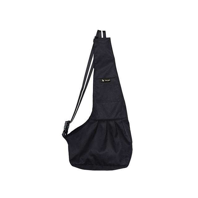 Cat Dog Carrier Bag & Travel Backpack Shoulder Messenger Bag Sling Shoulder Bag Portable Foldable Solid Colored Terylene White / Red Stripe White / Blue