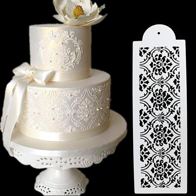 2pcs tort spray model bordură fantezie dantelă tort șablon scule diy instrument de coacere patiserie