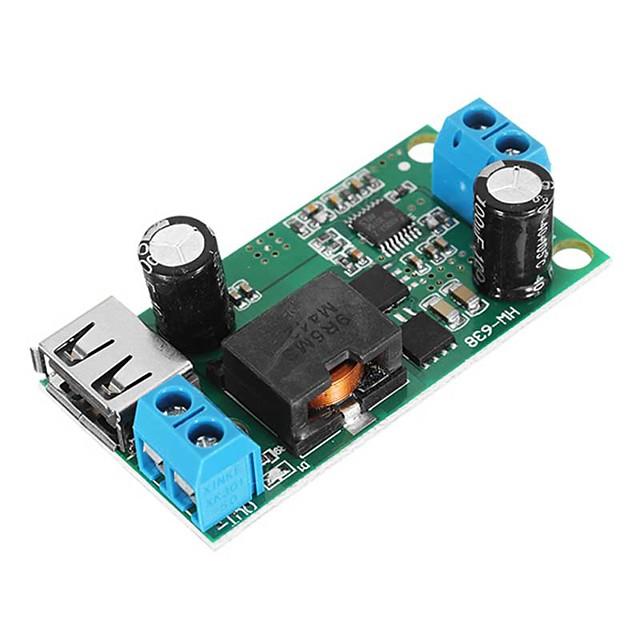 Dc-dc 9 v / 12 v / 24 v / 36 v için 5 v 5a adım aşağı kurulu kova modülü yüksek güç araç güç kaynağı dönüştürücü
