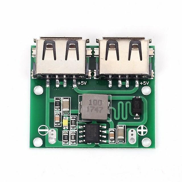 2 USB-utgångar 9v / 12v / 24v till 5v 3a DC-DC buck regulator laddningsmodul för bil