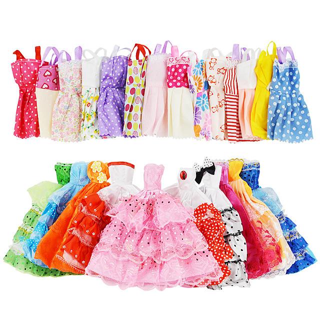 Dukke tilbehør Dukketøj Dukkekjole Tøj Tyl Blonde Stof Enkel Kreativ Kawaii Til 11,5 tommer dukke Håndlavet legetøj til pigens fødselsdagsgaver Tilfældig farve Dukken er ikke inkluderet