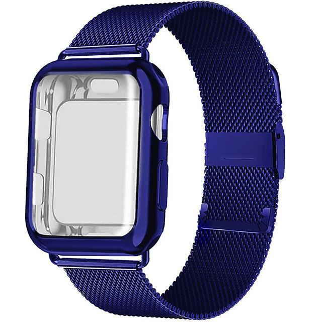 Cinturino intelligente per Apple  iWatch 1 pcs Cinturino a maglia milanese Acciaio inossidabile Sostituzione Custodia con cinturino a strappo per Apple Watch  6 / SE / 5/4/3/2/1 38 millimetri 40 mm