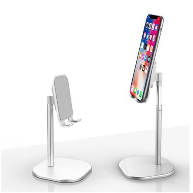 aluminiumslegering bordstativ teleskopisk metallbordbrakett universal mobiltelefonholder 360 graders rotasjon