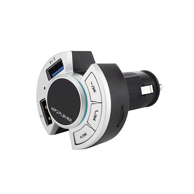 Bluetooth 5.0 Kit voiture Bluetooth Mains libres de voiture QC 3.0 / Lecteur de Carte / Modulateur FM MP3 de voiture Automatique