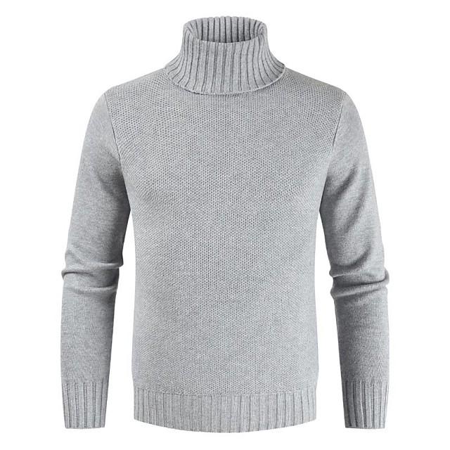 남성용 솔리드 풀오버 긴 소매 슬림 스웨터 가디건 터틀넥 겨울 화이트 블랙 카멜