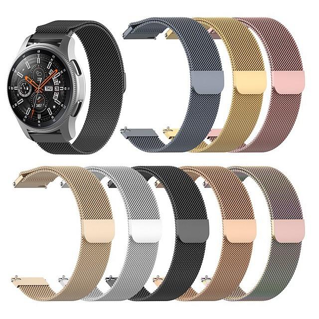 시계 밴드 용 화웨이 시계 GT / 화웨이 시계 GT2 46mm / 화웨이 시계 GT2 42mm Huawei 밀라노 루프 스테인레스 스틸 손목 스트랩