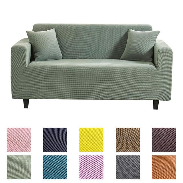 Housse de canapé Couleur Pleine Teinture Mélange polyester / coton Literie