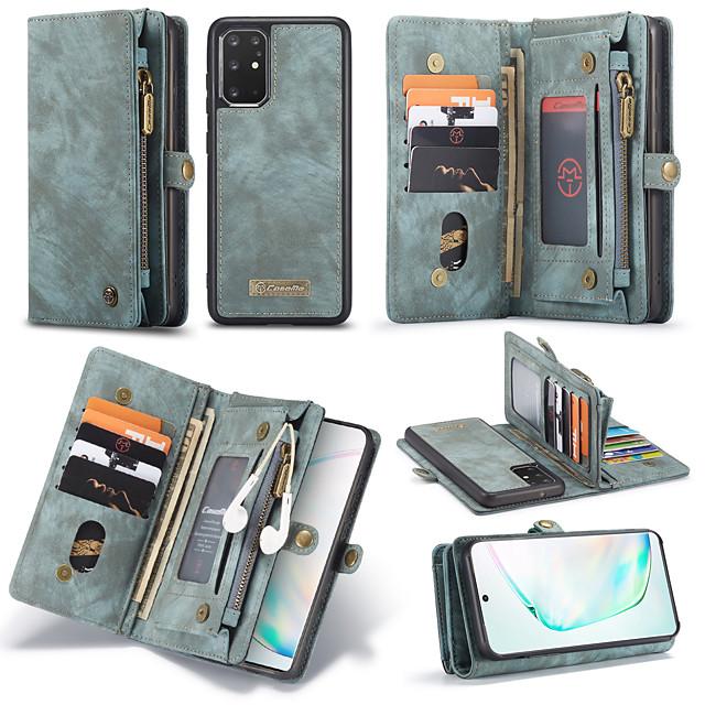 samsung s20plus чехол для мобильного телефона плюс кошелек встроенный кожаный чехол с откидной крышкой note10plus противоударный и ударопрочный 11 слотов для карт памяти 3 кошелька 1 сумка на молнии
