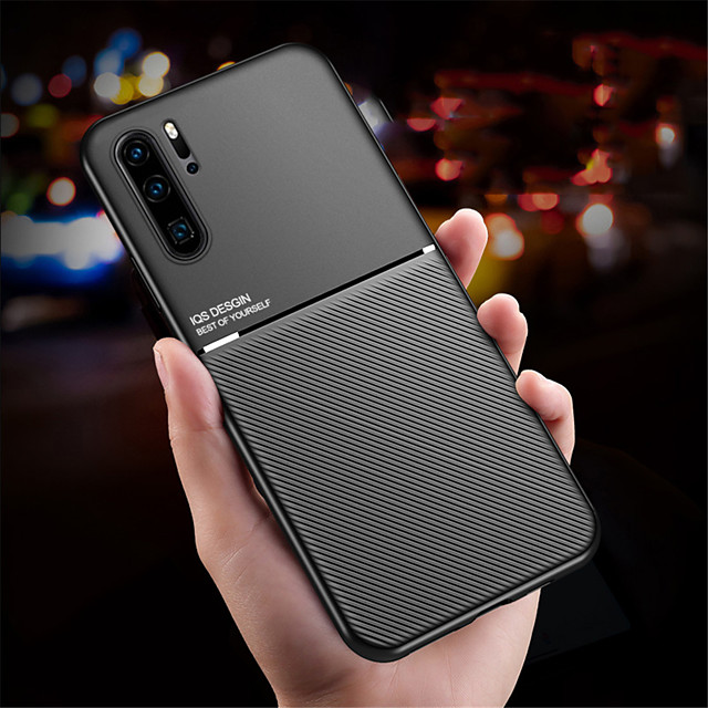téléphone Coque Pour Huawei Coque Arriere Silicone Huawei P20 Huawei P20 Pro Huawei P20 lite Huawei P30 Huawei P30 Pro Huawei P30 Lite Antichoc Ultrafine Couleur Pleine TPU Silicone Métal