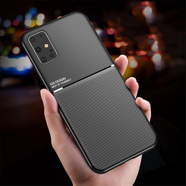 telefon fodral Till Samsung Galaxy Skal Silikon Silikonfodral S20 Plus S20 Ultra S20 Stötsäker Ultratunt Enfärgad TPU Silikon Metall