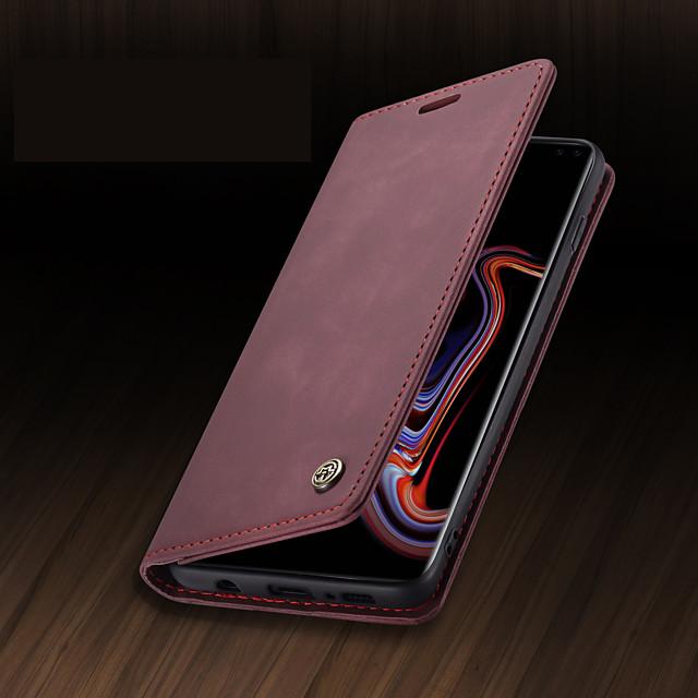 Caseme новый бизнес кожаный магнитный флип чехол для Samsung Galaxy S10 / S9 / S8 / S10 Plus / S9 Plus / S8 Plus с крышкой подставки слот для карт памяти