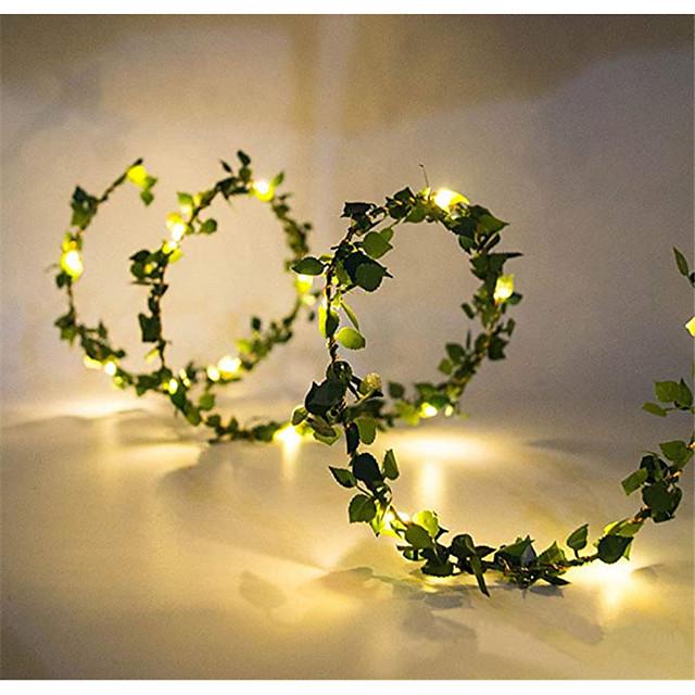 10m Guirlandes Lumineuses 100 LED 1pc Blanc Chaud jour de Pâques Noël Soirée Décorative Mariage Piles AA alimentées