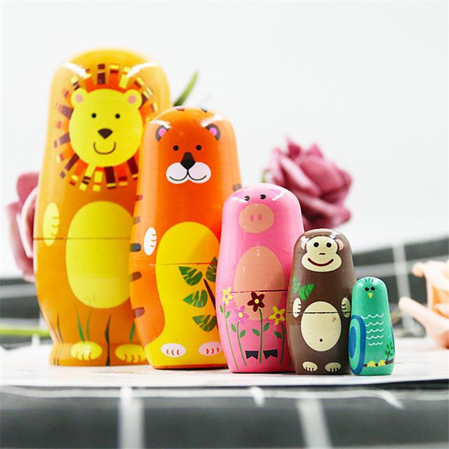 Poupée russe Thème classique En bois Tulle Dentelle Mignon Créatif Peint à la main Jouet fait main pour les cadeaux d'anniversaire de fille / Enfants