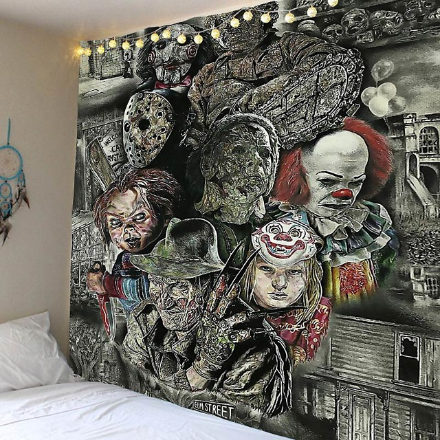 film d'horreur chucky tapisserie suspendue tapisserie décoration tapis 150 * 130/230 * 180/150 * 150/200 * 150 cm serviette de plage
