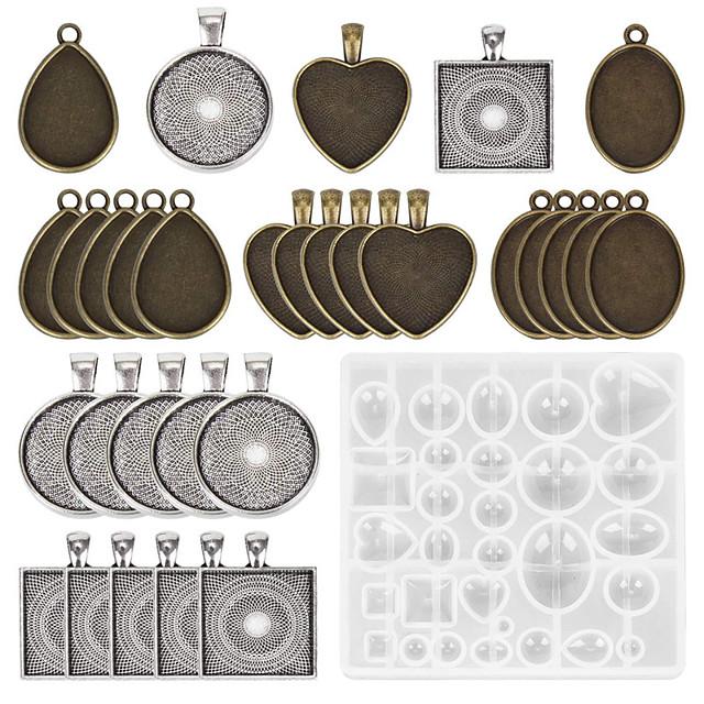diy 26db gem torta tészta sütőformák kombinációja szett kerek négyzet alakú szerelem ellipszis ötvözet alap