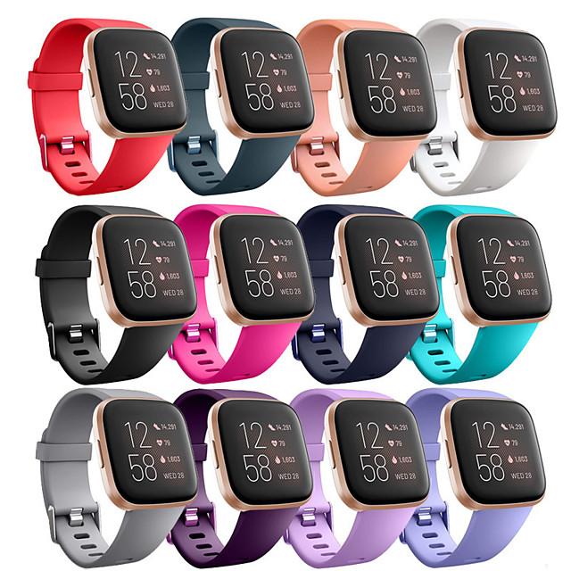 Watch Band for Fitbit Versa Lite / Fitbit  Versa 2 Fitbit Modern Buckle Silicone Wrist Strap