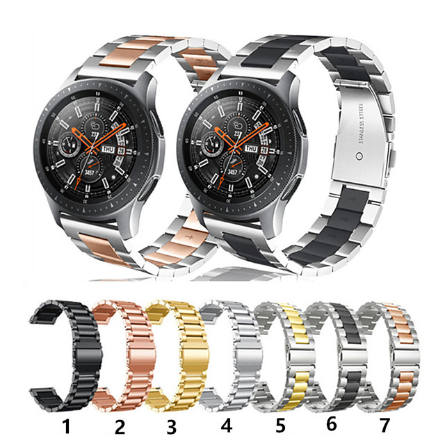 Cinturino per orologio  per Gear S3 Frontier / Gear S3 Classic / Gear 2 R380 Samsung Galaxy Cinturino sportivo Acciaio inossidabile Custodia con cinturino a strappo