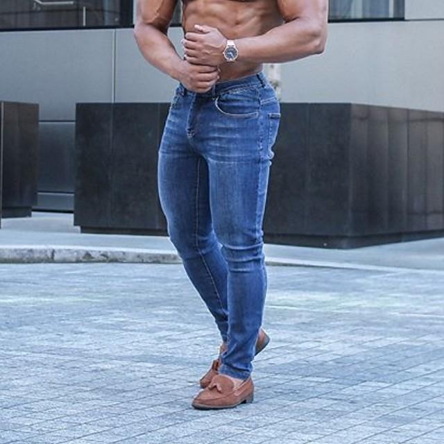 Per uomo Per sport Taglia piccola Pantaloni della tuta Pantaloni Tinta unita Nero Blu marino