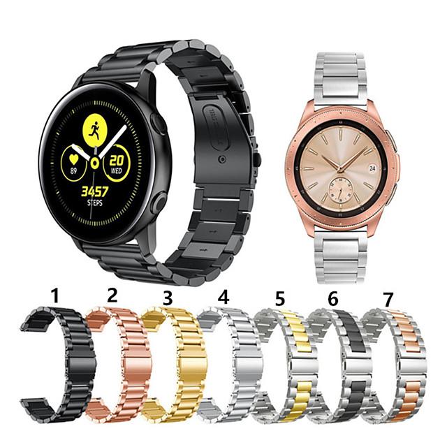 for samsung galakseur 42mm / aktiv / aktiv2 / girsport / s2 klassisk metall smart armbåndsur i rustfritt stål