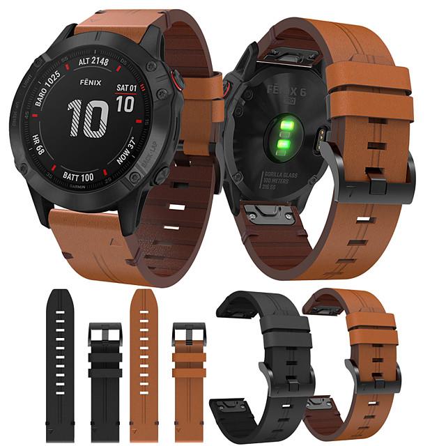 smartwatch band для garmin fenix 6x / 6x pro / fenix5x / 5x plus / 3 / 3hr / d2 / brvo / mk1 кожаная петля из натуральной кожи спортивные бизнес-группы высокого класса с удобными ремешками для