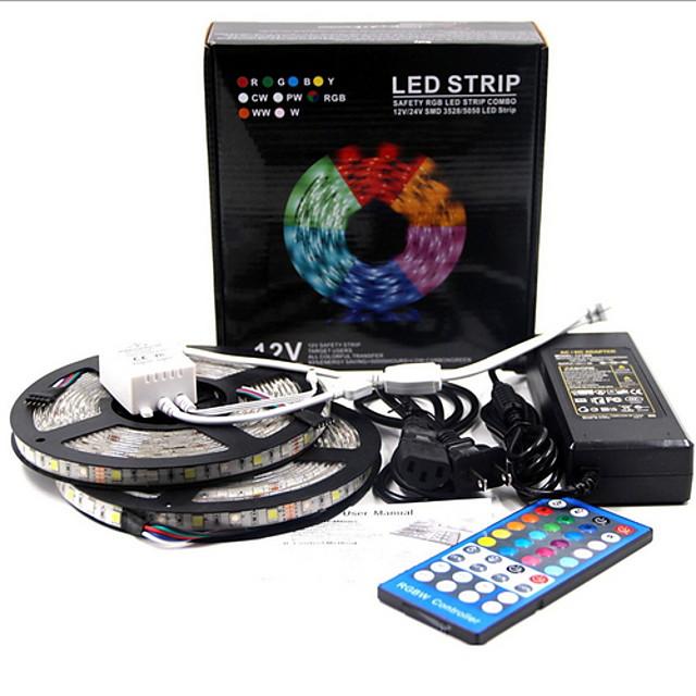 6m 유연한 LED 조명 스트립 100 LED SMD5050 따뜻한 화이트 장식 TV 배경 Tiktok LED 스트립 조명 12 V