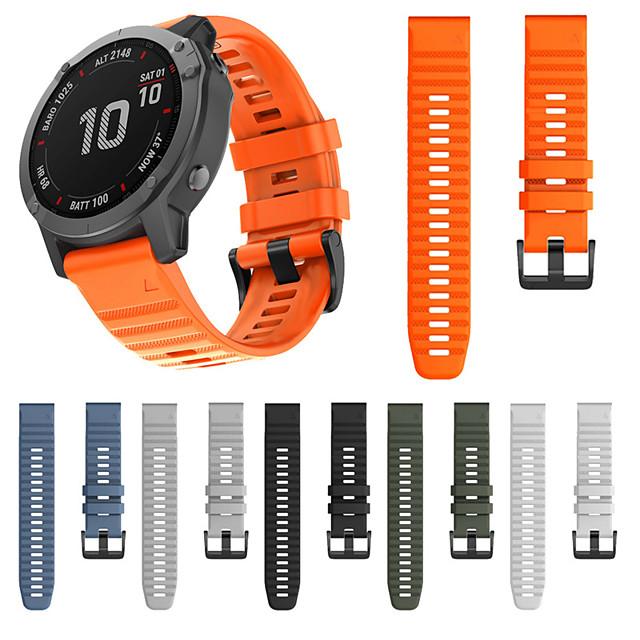 Watch Band for Garmin Fenix 6 / Fenix 5 Plus / Fenix 5 Garmin Sport Band / Classic Buckle / Modern Buckle Silicone Wrist Strap for Garmin Fenix 6