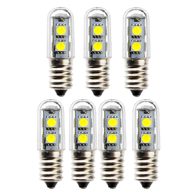 7pcs 1 W נורות גלוב לד 50 lm E14 T 7 LED חרוזים SMD 5050 דקורטיבי לבן חם לבן 180-265 V
