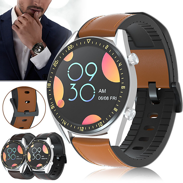 Ремешок для часов для Huawei Watch GT / Huawei Watch GT2 46mm Huawei Классическая застежка / Современная застежка / Бизнес группа Стеганная ПУ кожа Повязка на запястье