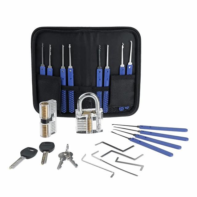 roestvrijstalen multitool lock set ontgrendelen slotenmaker praktijk gereedschap set sleutel extractor 20st