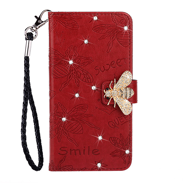 Case for Samsung scene map Samsung Galaxy S20 S20 Plus S20 Ultra Point diamond Bee pattern embossed flip leather case PU materialphone case