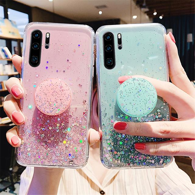 telefono Custodia Per Samsung Galaxy Per retro S20 Plus S20 Ultra S20 Resistente agli urti Con supporto Glitterato Cielo Glitterato Stelle TPU