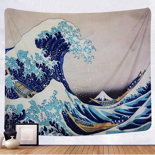 Kanagawa vague ukiyo-e tapisserie murale art décor couverture rideau suspendu maison chambre salon décoration peinture japonaise style